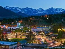 Estes Park, Colo., at Night