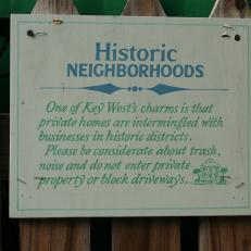 Key West Historic Neighborhood Sign
