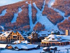 Ski Resort at Stowe Mountain, Vermont