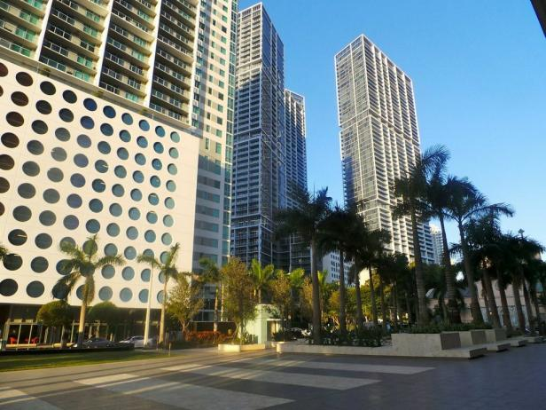 Brickell Neighborhood in Downtown Miami, Fla.