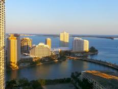 Biscayne Bay View From Miami's Brickell Neighborhood