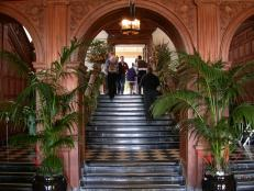 Grand Greystone Mansion Entry