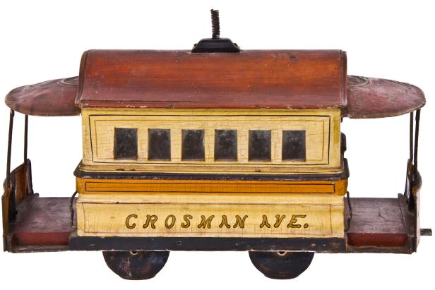 Urban Remains - 1892 Museum Quality American Folk Art Hand-Crafted Street or Trolley Car
