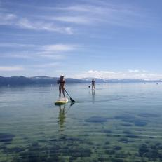 Paddleboarding on Lake Tahoe