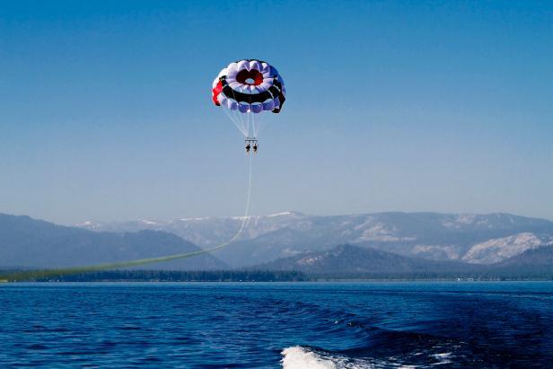 Parasailing Over Lake Tahoe