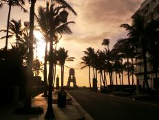 Sunrise on Worth Avenue in Palm Beach