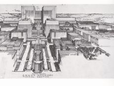 Frank Lloyd Wright L.A. Civic Center Plan