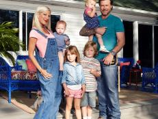 Tori Spelling, Dean McDermott and Kids