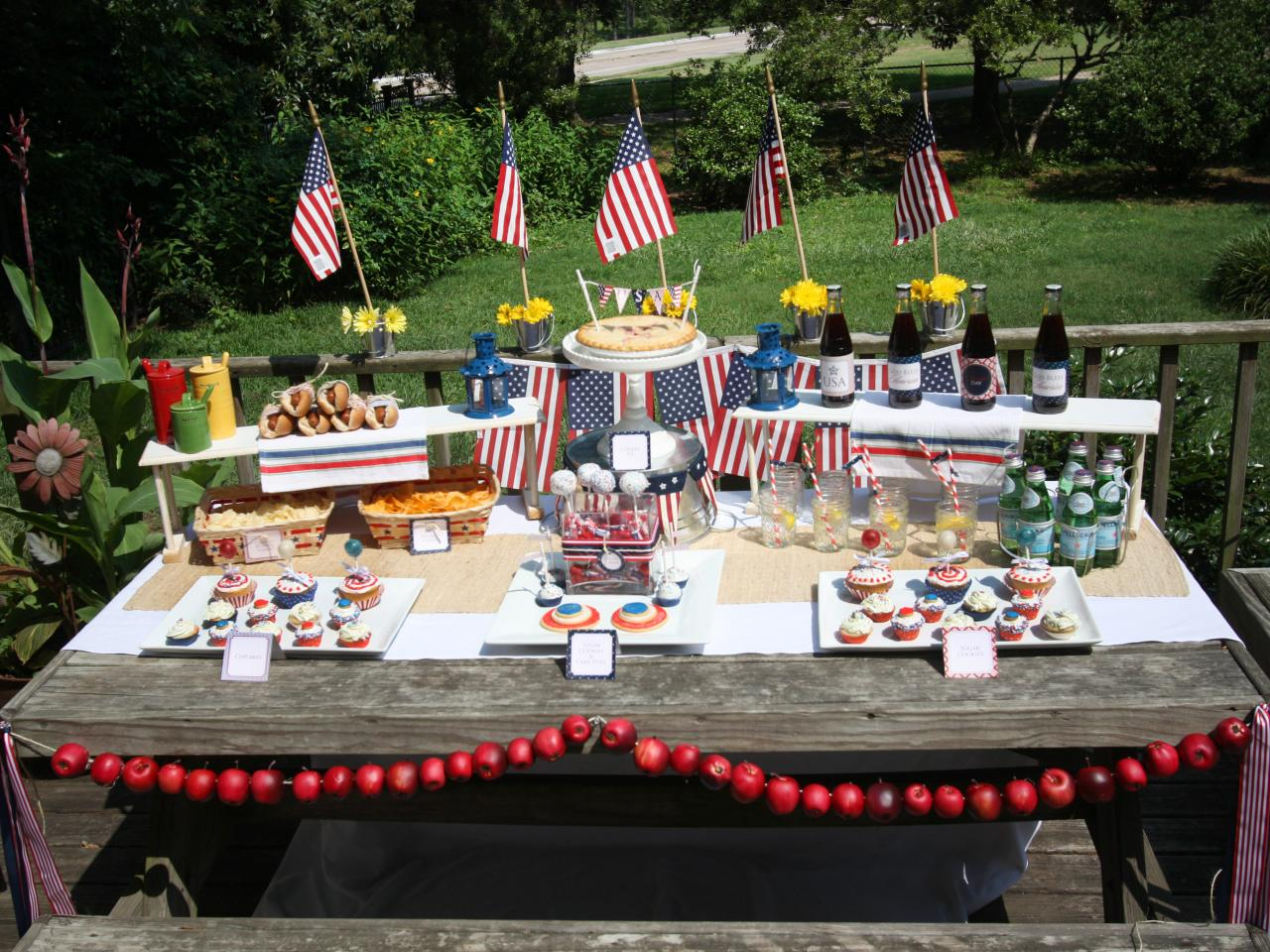 Backyard party ideas southern lifestyle celebrity for 4th of july decorating ideas for outside