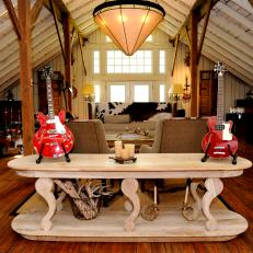 Ronnie Dunn's Barn Turned Music Space
