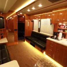 Scotty McCreery's RV Tour Bus Custom Kitchenette