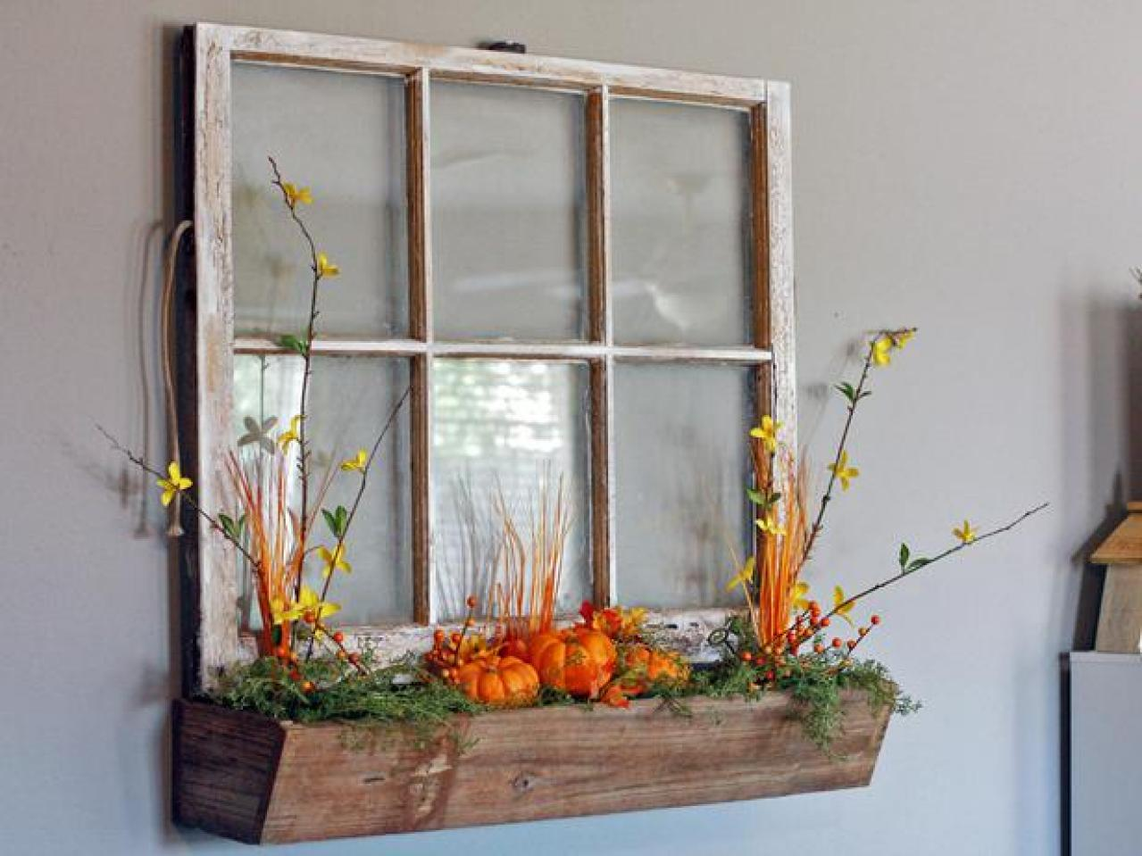 5 upcycled window projects we love hgtv 39 s decorating for Window wall