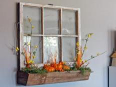 Fall Window Box Arrangement