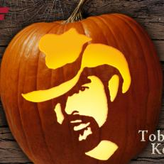 Toby Keith Halloween Pumpkin Carving Template