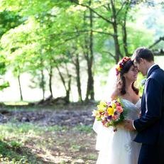 Romantic Wedding in the Woods