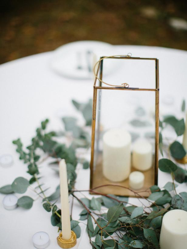 Simple Centerpiece for Southern Wedding
