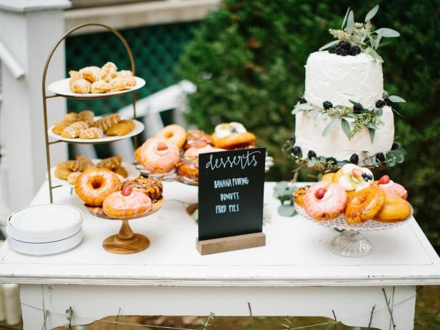 Dessert Table at Southern Wedding