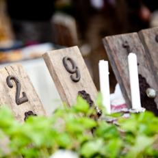 Barn Wood and House Number Country Wedding Table Numbers