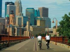 Cyclists in Minneapolis