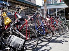 Bicycles at Pike Place Market in Seattle