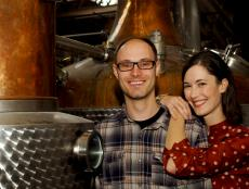 Owners Robert and Sonat Birnecker Hart of Koval Distillery Chicago