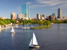 Sailboats Near Boston, Massachusetts