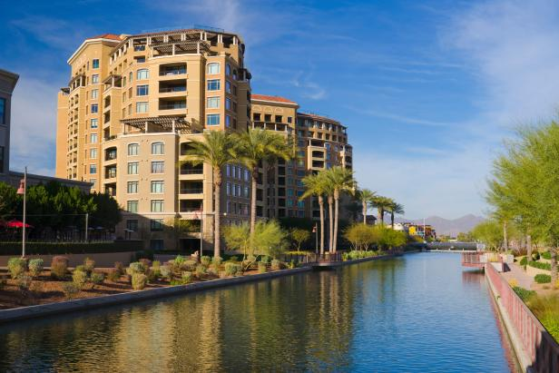 Scottsdale towers and canal