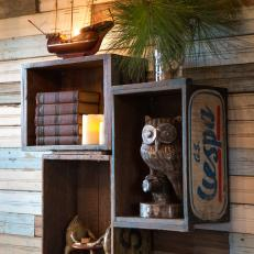 The Junk Gypsies used vintage design pieces to transform a treehouse into a guesthouse