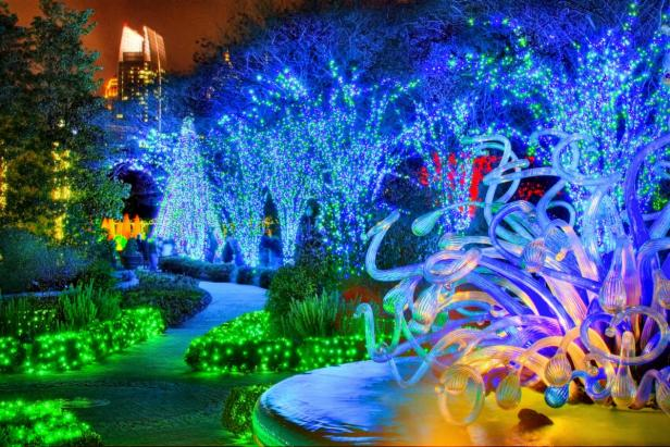 Atlanta Botanical Gardens Holiday Lights, Chihuly