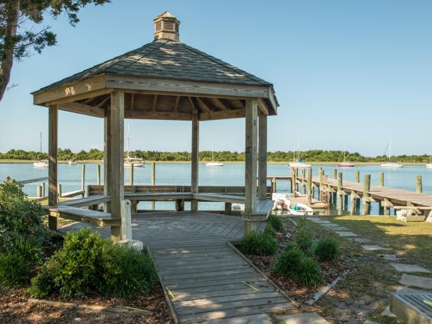 Waterfront Gazebo in Beaufort, N.C.