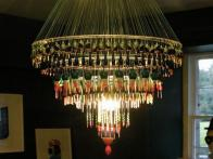 Repurposed Fishing Floats and Lures Chandelier